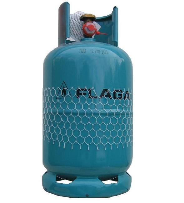 Ocelová plynová láhev 5,8 kg